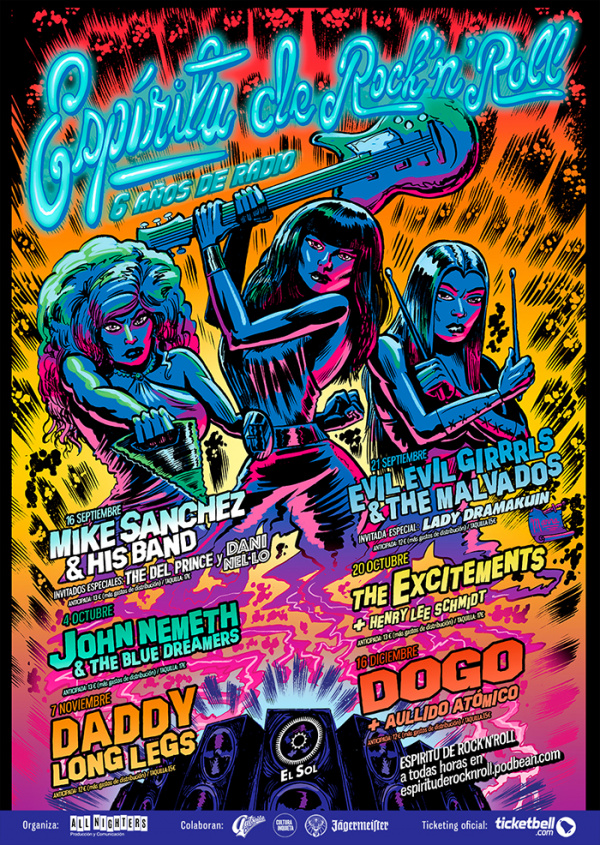 Espíritu de Rock N Roll tiene un cartel de lujo: Dogo, John Nemeth, The Excitements y muchos más