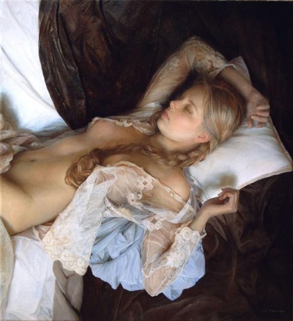 Pinturas hiperrealistas que honran la belleza del cuerpo femenino