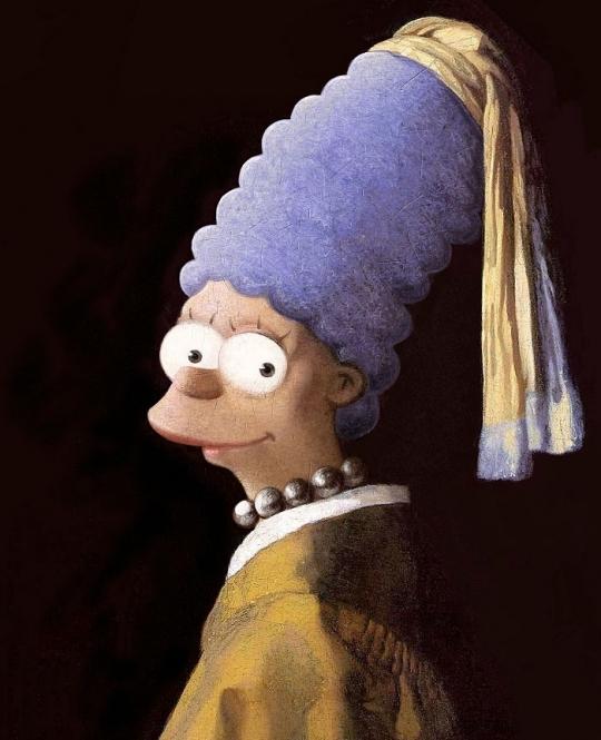 Los Simpson, recreados por David Burton.