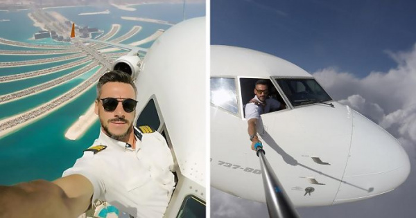Un piloto publica selfies con medio cuerpo fuera de la cabina, suscitando controversia