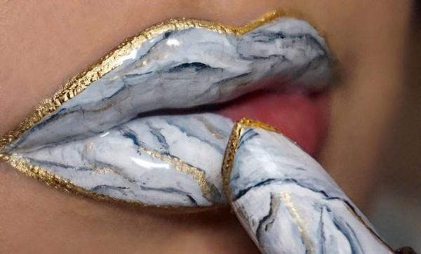 Labios de mármol, una tendencia en maquillaje que se está extendiendo
