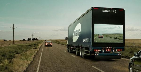 Un camión que te muestra el tráfico para evitar accidentes