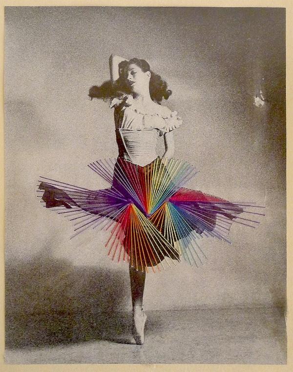 Hilos de colores que insuflan nueva vida a viejas fotografías