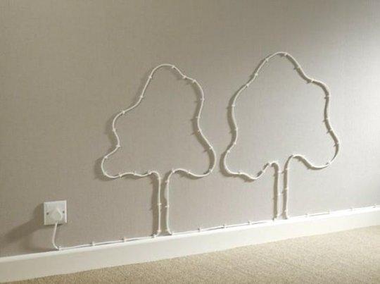 Arte Sobre la Pared Usando Cables