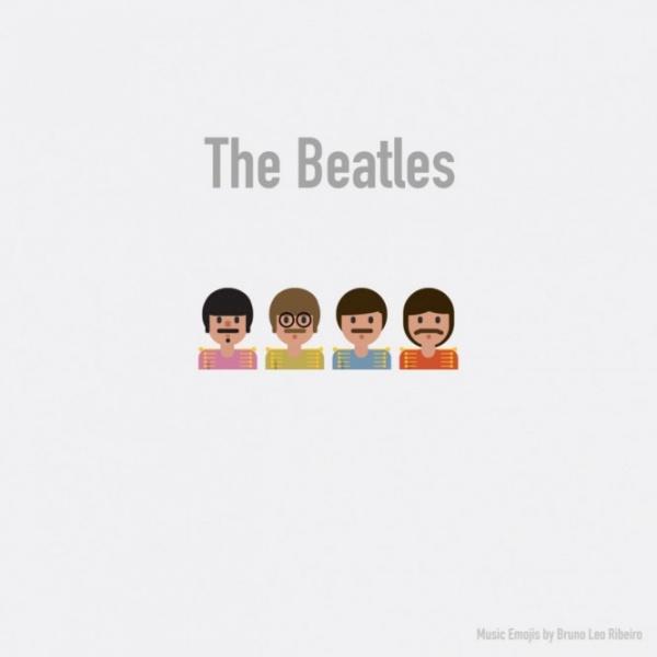 Legendarios grupos de rock y pop convertidos en divertidos emoticonos
