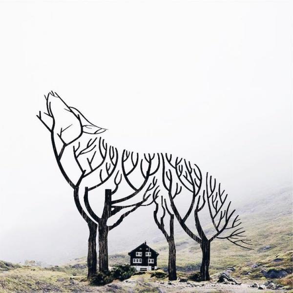 Un joven artista empareja objetos dispares para crear imágenes surrealistas