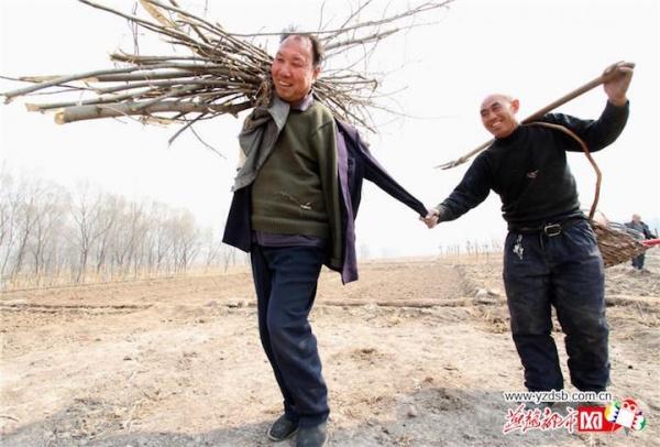 Un hombre ciego y su amigo manco plantan más de 10.000 árboles en China