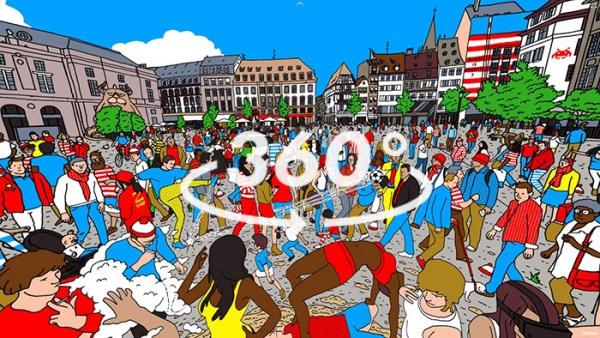 ¿Podéis encontrar a Wally en esta ilustración de 360º?