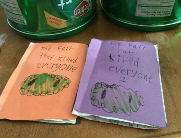 Un niño escribe un libro sobre pedos apocalípticos, quizás la novela más intensa de la historia
