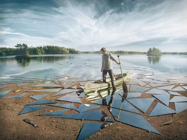 Erik Johansson crea una imagen épica con 17 m² de espejo