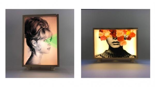 Iconos pop brillan con luz propia en estas preciosas cajas de luz