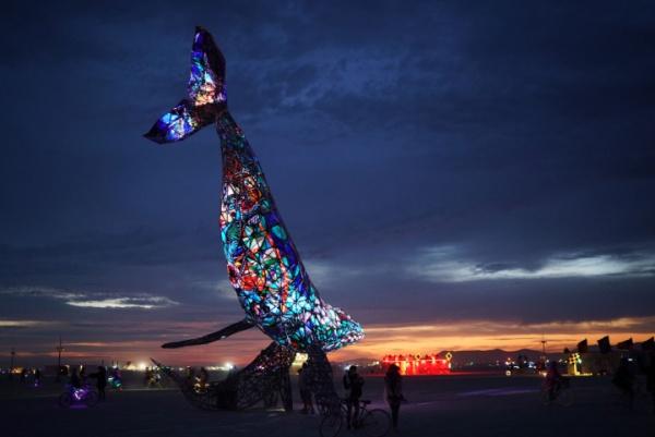 El espíritu de Da Vinci sobrevuela el desierto de Burning Man