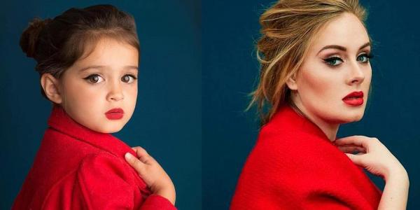 Una niña de tres años es caracterizada de poderosos iconos femeninos