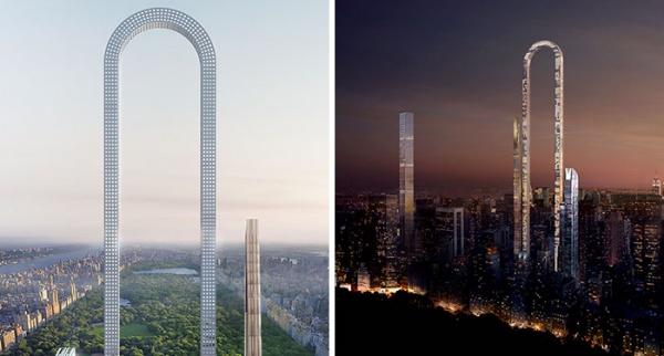 Impresionante proyecto de rascacielos en forma de U para Nueva York