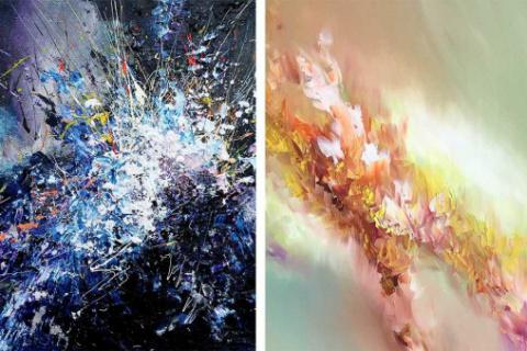"""Una artista con sinestesia pinta como """"ve"""" las canciones"""